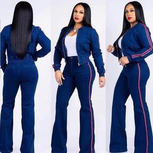 Blue jean 2 piece set